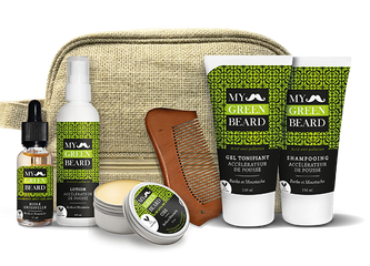 Kit accelerare crestere barba si mustata MY GREEN BEARD - Beard Growth Acceleration Kit