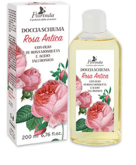 Gel de dus cu acid hialuronic si ulei de Rosa Moscheta  Rosa Antica - La Dispensa  200 ml