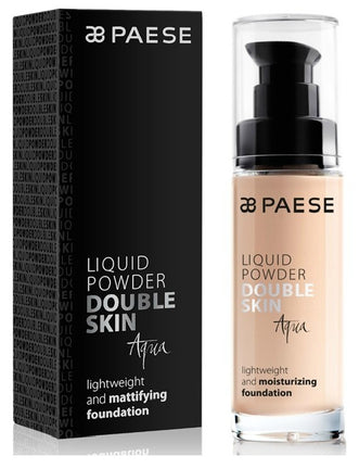 Fond de ten hidratant- Paese Liquid Powder Double Skin Aqua 30 ml (4 nuante)