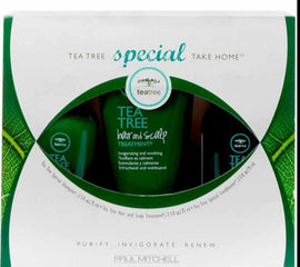 Set 3 produse pentru revigorare - PAUL MITCHELL Take Home Kit Tea Tree Special