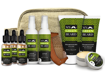 Kit complet pentru barba si mustata - My Green Beard Trousse Complete