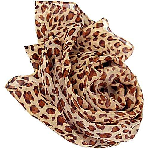 Wrap City Gal Lightweight Animal Print Scarf (Cheetah Print)