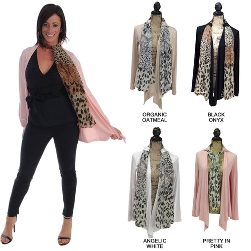 Wrap City Gal Belt Looped Cover Wrap Cardigan, 6 different ways to wear my cardigan (Black Onyx)