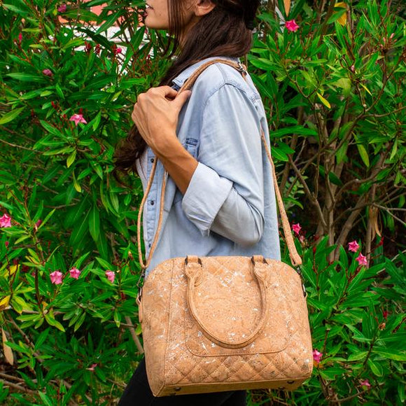 Valeria - Quilt Cork Bag