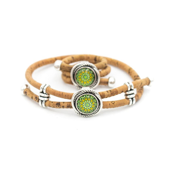 Green Kaleidoscope Bracelet and Ring Set