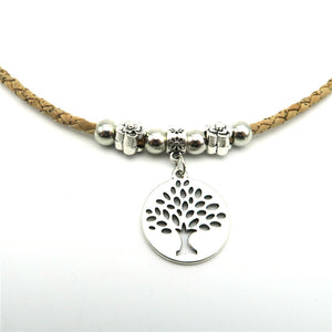Simple Tree of Life Charm Necklace