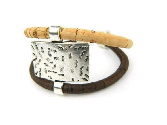 Two Tone Statement Bracelet