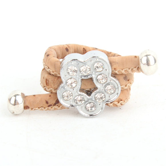 Diamanté Cork Flower Ring