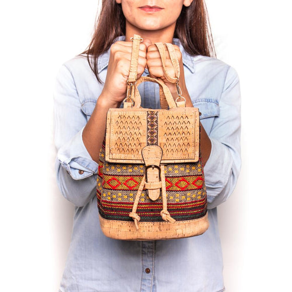 Aztec Print Vegan Backpack