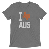 I Texas AUS Heather Tee, Austin Texas Triblend Tee
