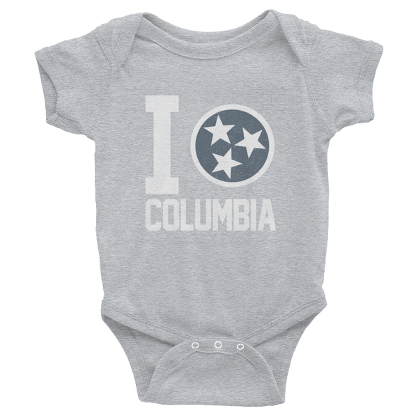 I Tristar, Love, Heart, Columbia Tennessee Onesies