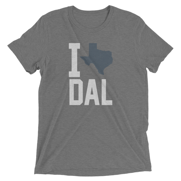 I Love, Heart, Dallas Heather, Triblend Tee, Texas