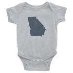 Georgia Baby Onesie, Outline, State, Child