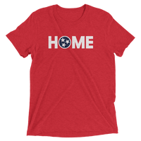 Red TN Tennessee Flag Heather Shirt