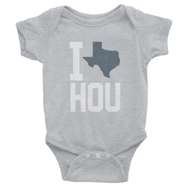 I Love, Heart, HOU Houston Texas Onesie, Baby