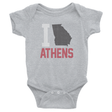 I Love/State Athens Georgia Onesie, Baby Child