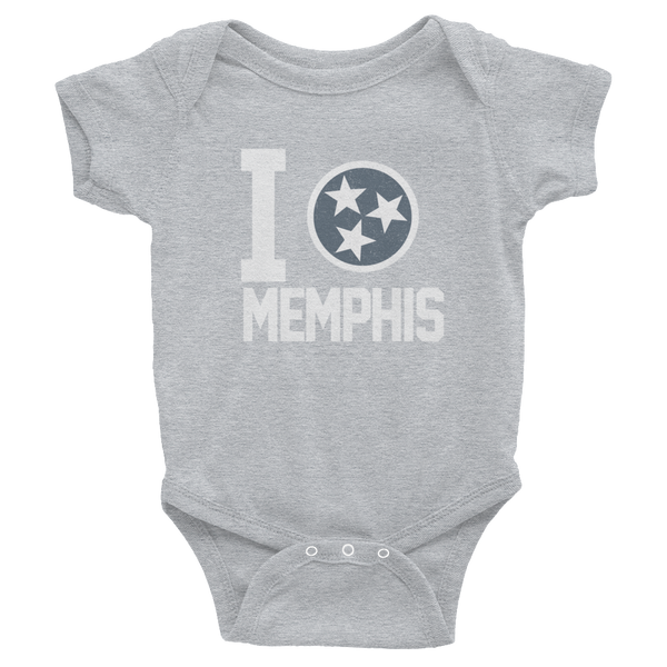 I Tristar, Love, Heart, Memphis Tennessee Onesies
