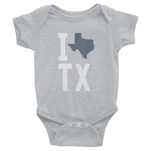 I heart Texas, Love Outline, State TX Onesie