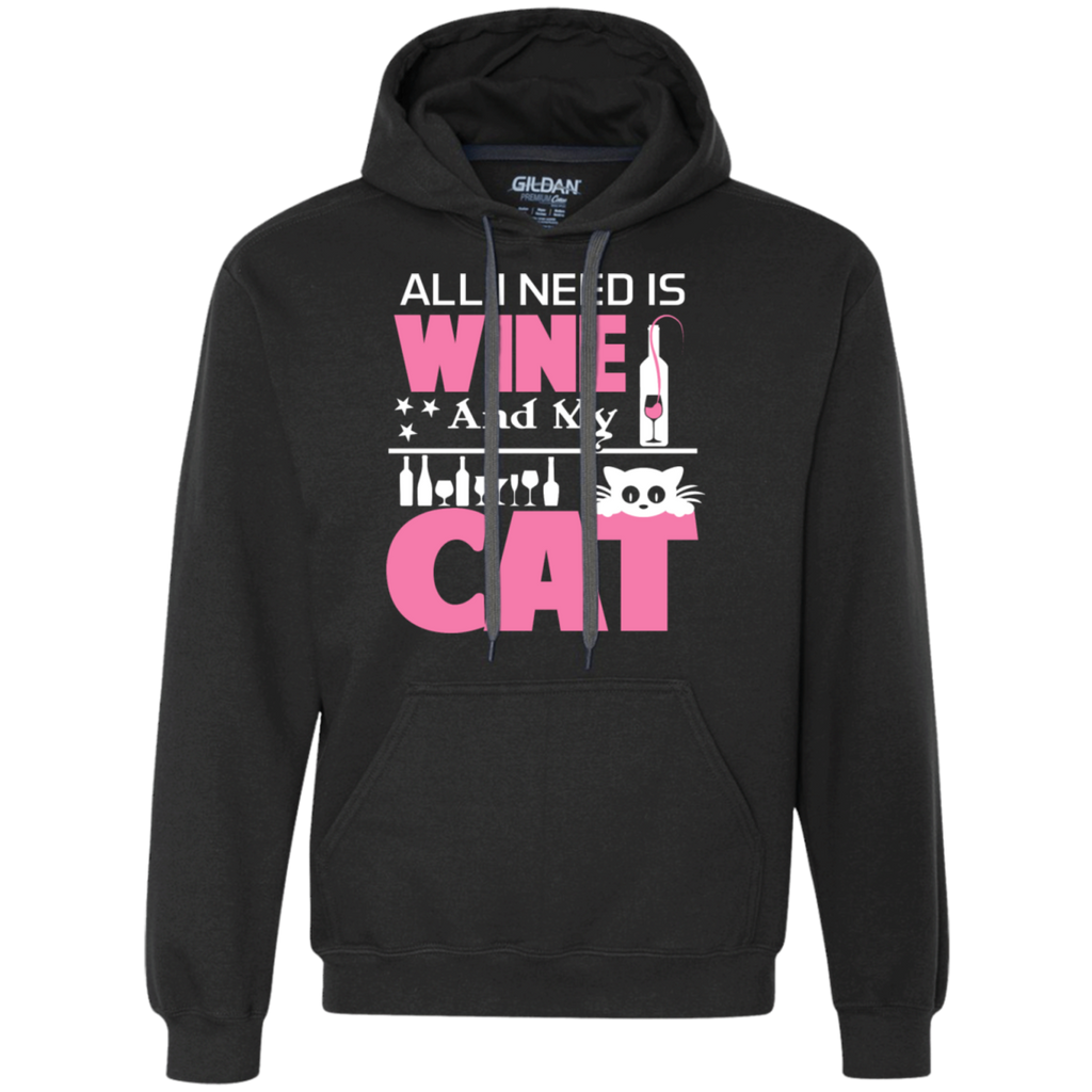 all i need is wine and my cat t shirt