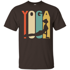 1970 s style upward facing dog silhouette yoga
