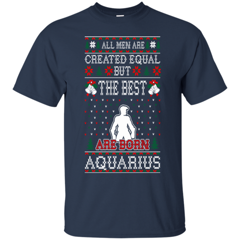 All Men Created Equal Best Aquarius Christmas Ugly-Shirts