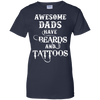 Image of awesome-dads-have-beards-tattoos-gift-for-dad