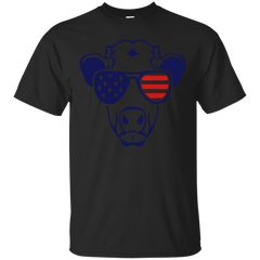 american flag cow colored sun glasses Shirt