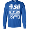 Image of 3RD GRADE TEACHER Funny Job title Shirt 3RD GRADE TEACHER is freaking miracle worker