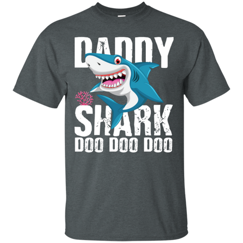 Daddy Shark T Shirt Fathers Day Gifts Family Matching Dad
