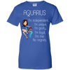 aquarius-I'm independent,i'm unique,i'm goofy,i'm loyal,i'm me No regrets