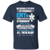 Image of EMT - Family is behind every strong EMTs t-shirt