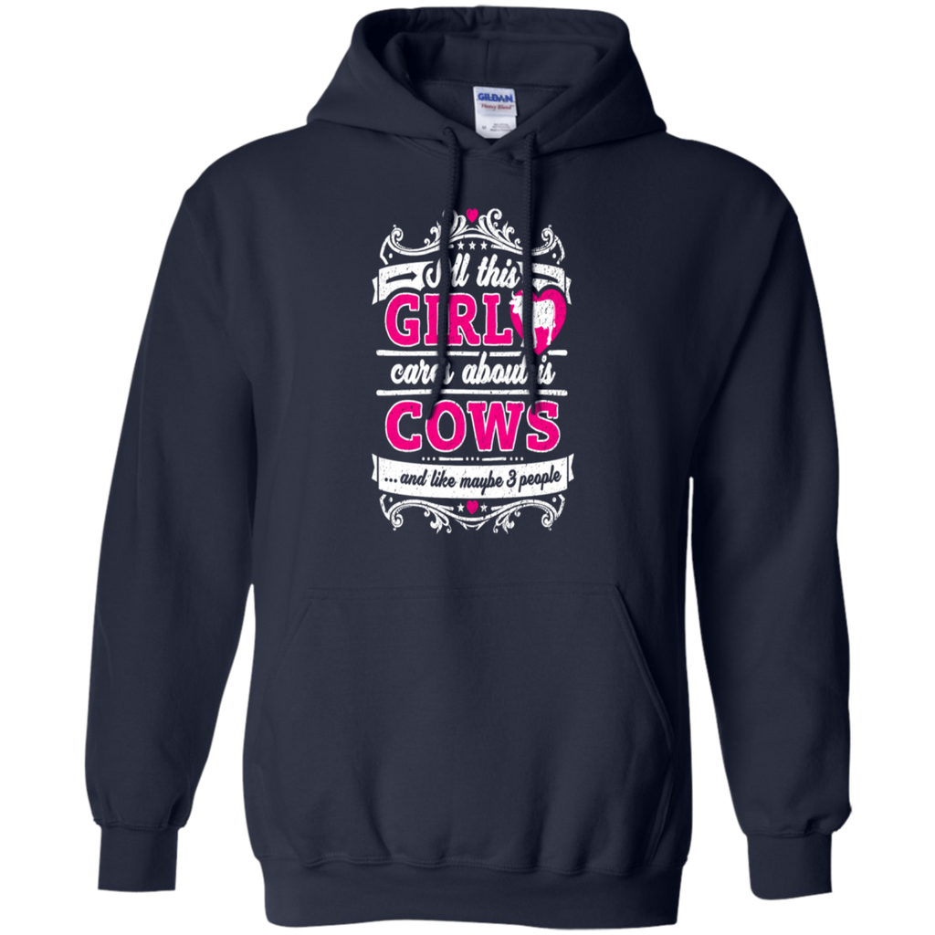 All This Girl Cares About Is Cows Funny Shirt