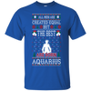 Image of All Men Created Equal Best Aquarius Christmas Ugly-Shirts