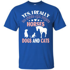 Animal - Horses Dogs And Cats T Shirt