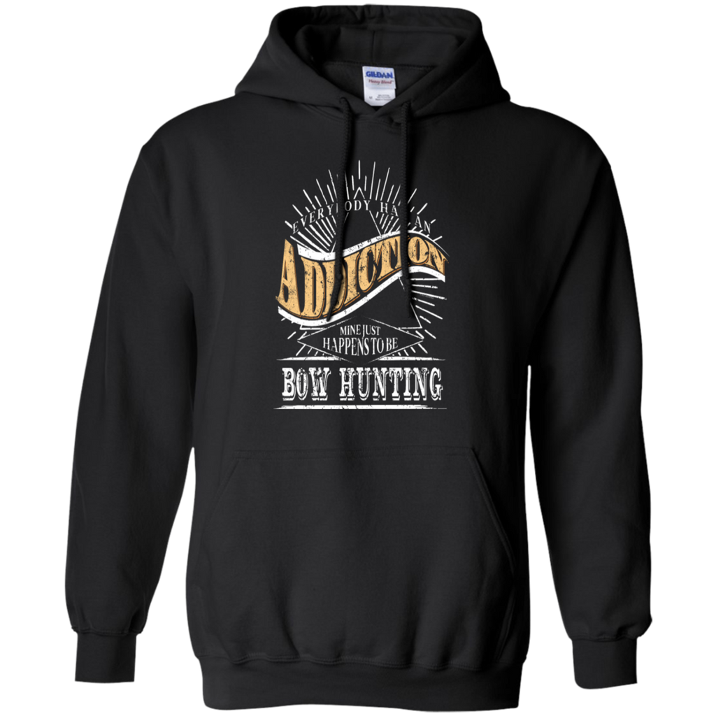 Addiction Is Bow Hunting Shirt Gift Deer Hunting T Shirt Gear-T-shirt