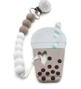 Silicone Teether With Clip [Multiple Styles]