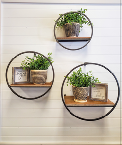 Round Wall Shelf [3 Sizes]