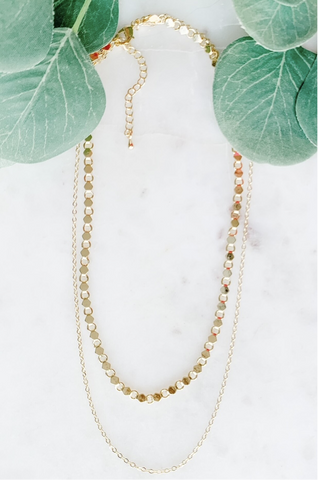 Two Layer Gold Chain Necklace