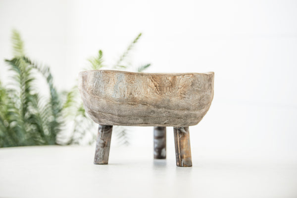 Wood Bowl With Legs