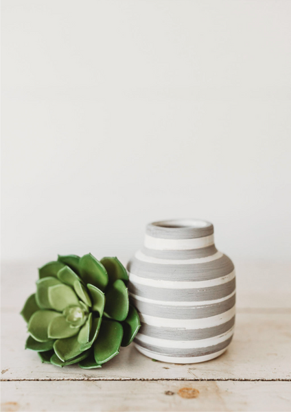 Striped Vase [Multiple Sizes]