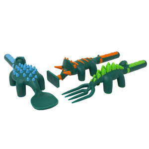 Induvial Dinosaur Constructive Eating Utensils