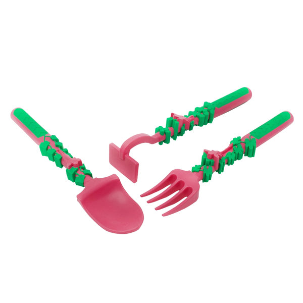 Set Of Three Constructive Eating Utensils [Multiple Styles]