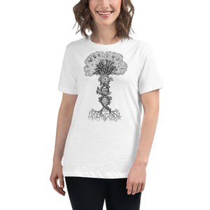 Women's Relaxed DNA Tree White