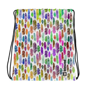 Drawstring Feather Bag