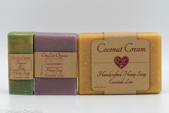 Hemp Soaps with Guest-Sized Bars Available