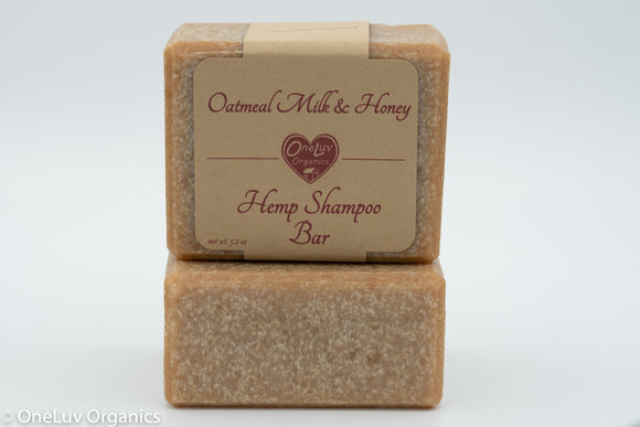 Oatmeal Milk & Honey Hemp Shampoo Bar