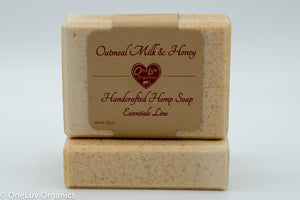 Oatmeal Milk & Honey Handcrafted Hemp Soap: Essentials Line