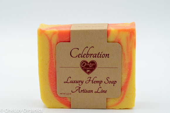 Celebration Luxury Hemp Soap- Artisan Line