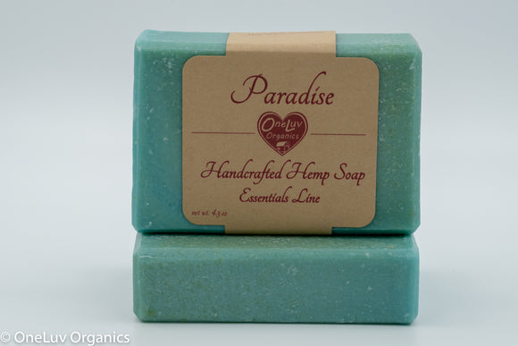 Paradise Handcrafted Hemp Soap: Essentials Line Hemp