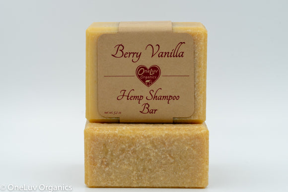 Berry Vanilla Hemp Shampoo Bar
